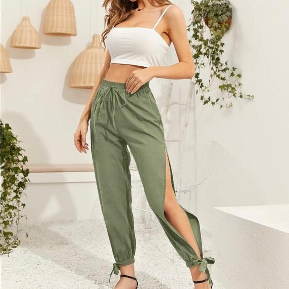 Crop top with split pants